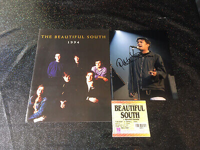 The Beautiful South Concert Program + Ticket Paul Heaton Signed Photo 1994 • 95£