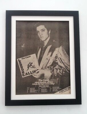 The CLASH*London Calling*Tour*1979*ORIGINAL*POSTER*AD*FRAMED*FAST WORLD SHIP • 79.95£