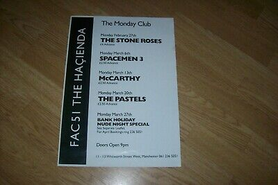Hacienda Factory Poster Repro Rare Spacemen 3 The Stone Roses Pastels Manchester • 9.99£