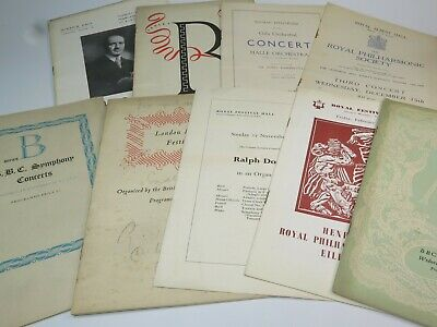 VINTAGE CLASSICAL CONCERT PROGRAMMES Selection Please Choose 1930s-1960s • 4.99£