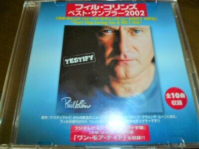 PHIL COLLINS Best Sampler 2000 Can't Stop Loving You & No.1 Hits JAPAN PROMO CD • 50£