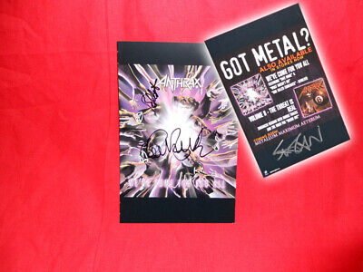 SALE Metal/Rock  Anthrax  We've Come For You All Multi Signed Promo Insert • 19.99£