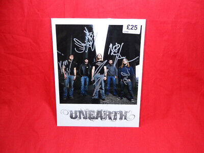 SALE Metal/Rock  Unearth  Multi Signed 10x8 Photo MR30 • 24.99£