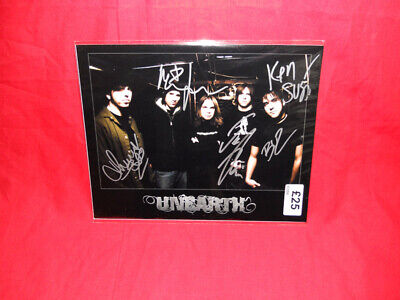 SALE Metal/Rock  Unearth  Multi Signed 10x8 Photo MR27 • 24.99£