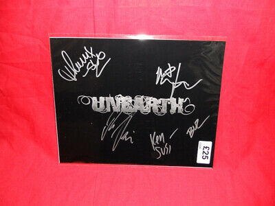 SALE Metal/Rock  Unearth  Multi Signed 10x8 Photo MR29 • 24.99£