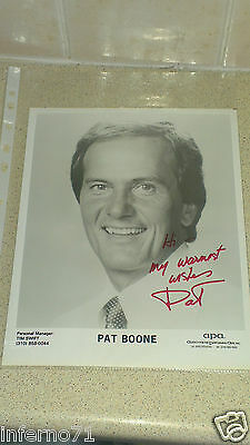 Pat Boone Autograph Photo • 15£
