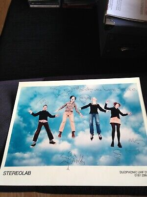 Stereolab Fully Signed Promo Photo Tim Mary Laetitia Morgane Andy 1997 Rare • 12.99£