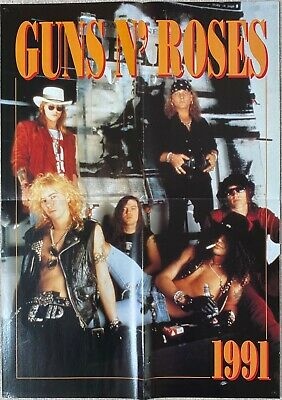 Guns N' Roses - 1991 - Double-sided 6 Posters Set • 30£