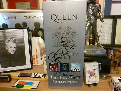 QUEEN, Freddie Mercury, BRIAN MAY, ROGER TAYLOR Signed Platinum Collection Set! • 299£