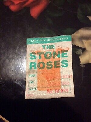 Stone Roses - Access All Areas Sticky / Linen Pass - Early 90s - Rare! • 34.99£