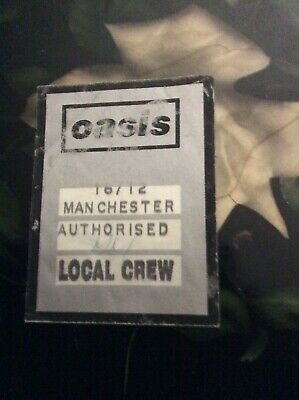 Oasis - Definitely Maybe Local Crew Linen Pass - Manchester UK - 1994 - Rare! • 49.99£