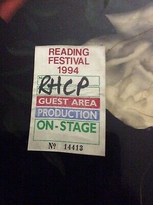 Reading Festival 1994 - Red Hot Chili Peppers Production Stage Pass -ultra Rare! • 49.99£