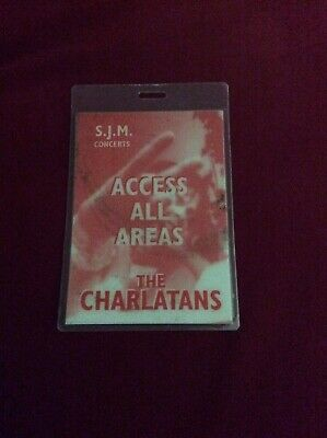 The Charlatans - Production Crew Pass Laminate - Early 90s - Rare! • 19.99£