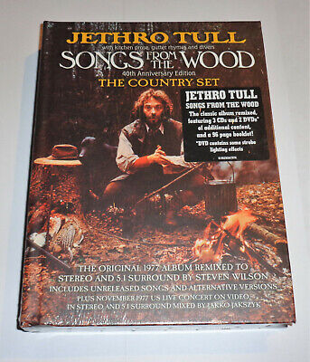 Jethro Tull Songs From The Wood 40th Anniversary Box 3CD & 2DVD The Country Set • 250£