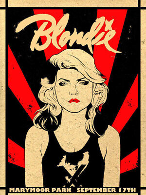Blondie Concert Poster Print  A4 Size • 3.49£
