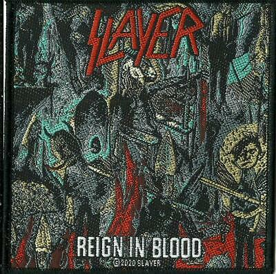 SLAYER Reign In Blood 2020 - WOVEN SEW ON PATCH Official Merchandise • 3.95£