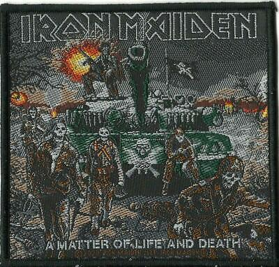 IRON MAIDEN A Matter Of Life & Death 2020 WOVEN SEW ON PATCH Sealed TANK • 3.95£