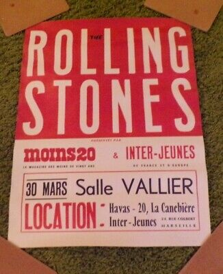 ROLLING STONES, 1960s FAB CONCERT POSTER FROM FRANCE.  • 14.99£