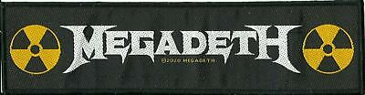 MEGADETH Logo 2020 - WOVEN STRIP SEW ON PATCH - Official Merchandise • 3.95£