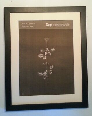 DEPECHE MODE*Violator*1990*RARE*ORIGINAL*POSTER*AD*FRAMED*FAST WORLD SHIP • 89.95£