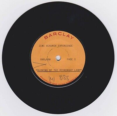 JIMI HENDRIX EXPERIENCE 1967 French  Midnight Lamp  TEST PRESSING 45 Barclay • 337.71£