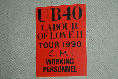 Ub40 ** Satin Cloth  Backstage Pass  ** Labour Of Love Ii  Tour 1990   Authentic • 3.64£