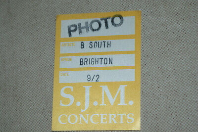 BEAUTIFUL SOUTH  **  BACKSTAGE PASS  **   BRIGHTON TOUR     Used Condition - • 3£