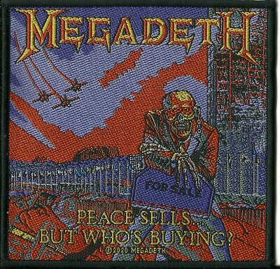 MEGADETH Peace Sells But Who's Buying 2020 WOVEN SEW ON PATCH Official Merch • 3.95£