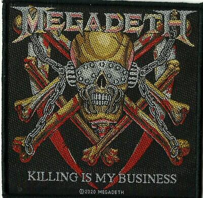 MEGADETH Killing Is My Business 2020 WOVEN SEW ON PATCH Official Merchandise • 3.95£