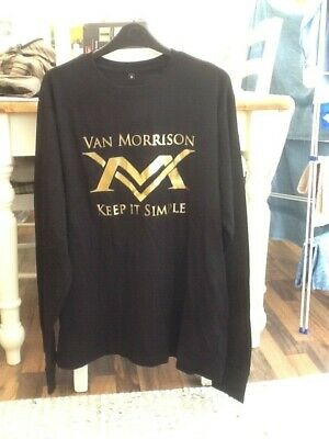 Unworn Van Morrison In Concert 2008-keep It Simple-l/sleeve T-shirt Xl • 1.99£