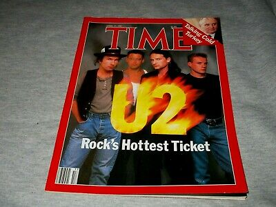 U2-rock's Hottest Ticket-time Magazine-april 27, 1987 Issue--complete-no Label • 3.70£