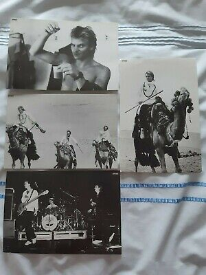 Sting / The Police - Official Black & White Photos X 4 • 14£