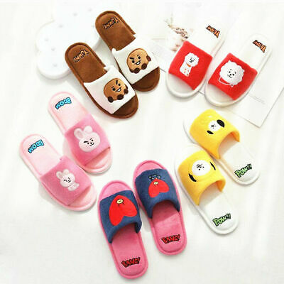 Hot KPOP BT21 New Plush All-inclusive Slippers Half-pack Slippers • 14.99£