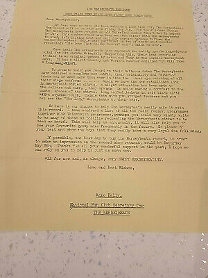 The Merseybeats Newsletter May 1965 With Original Envelope. Two Sided In Yellow  • 2£
