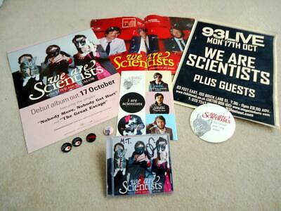 We Are Scientist Autographed With Love And Squalor Cd Posters Sticker Sheet Pins • 44.99£