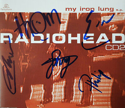 Rare Fully Hand Signed Radiohead Autographed  My Iron Lung  Cd Single - Free P&p • 99.99£
