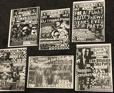 6x Ska Flyers/two Tone/specials/madness/the Beat/oi/skinhead/punk/selecter/ • 1.99£