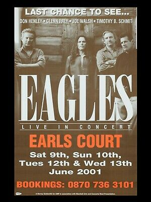 The Eagles Earls Court 16  X 12  Repro Promo Poster • 5.50£
