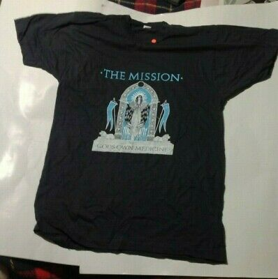 Goth The Mission Gods Own Medicine Vintage 1980s T SHIRT UNWORN Screen Stars XL • 5.70£