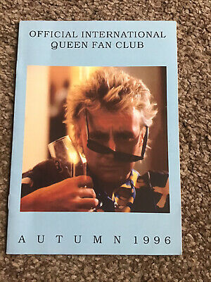 Queen International Fan Club Magazine Autumn 1996 Mercury May Taylor Deacon • 2.99£