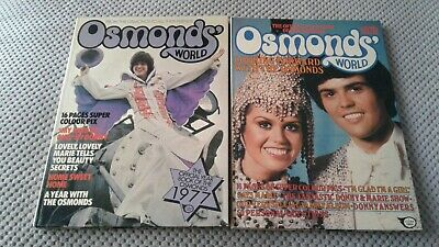 The Osmonds - 2 X Osmonds World Annuals 1977 / 1978 Prices Unclipped • 2.69£