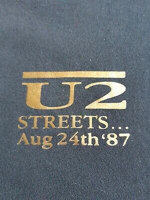 U2 Streets Island Records Black Promo T Shirt Original Item Not Repro Size XL.  • 35£