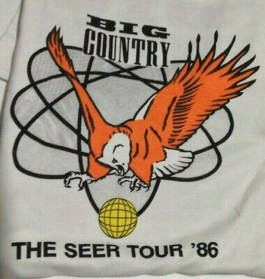 Big Country The Seer Vintage 1980s T SHIRT UNWORN Single Stitch EXTRA LARGE • 21£