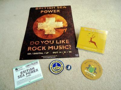 British Sea Power Club Sew On Patch Poster Ticket Pin It Ended On An Oily Stage • 39.99£