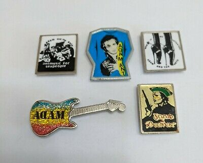 5 Original 1980's Adam And The Ants Metal Lapel Badges. • 16.99£