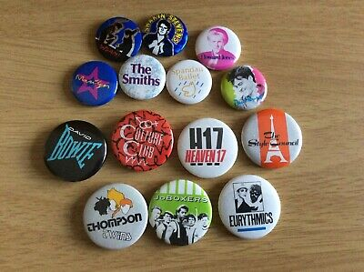 Original 80s Pop Badges • 3£
