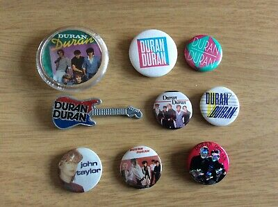 Original 80s Duran Duran Badges • 3£