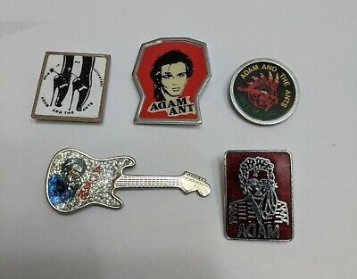 5 Original 1980's Adam And The Ants Metal Badges • 16.99£