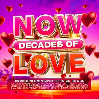 Various Artists - Now Decades Of Love 4CD 2021 NEW • 13.99£