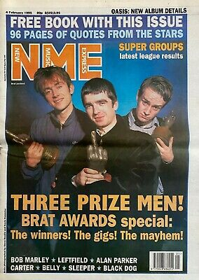Oasis - Blur - Nme - 4 February 1994 - Photos And Article • 8£